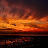 Fiery Sky over Ryde Pier