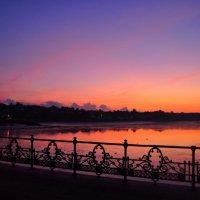 Ryde Pier Purple Sky