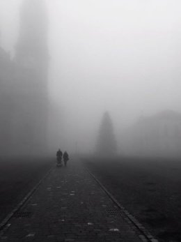 St. Gallen in the fog