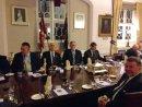 L-R Maj Clapp, SqnLdr Cocks, Jim Corbett, WO Phil Puddefoot
