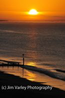 Sunrise over Bournemouth seafront