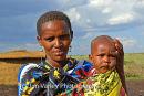 Masai Woman and Child