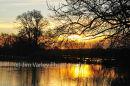 Newbridge Floods 2013 At Sunset