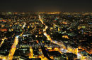London at night looking north from the top of the Broadgate Tower