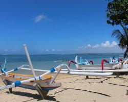 Beach scene in Bali