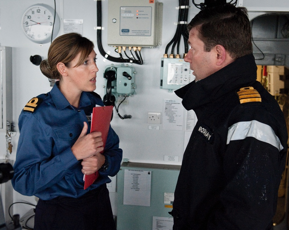 Capt. Paddy McAlpine briefs logistics officer