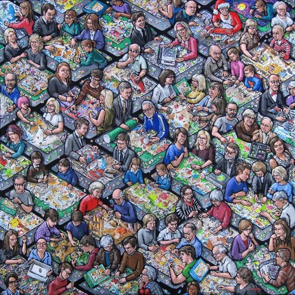 jigsaw puzzling