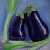 Aubergines and Scallions I