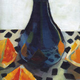 Purple Vase and Oranges