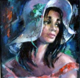 Girl with Blue Ribbons