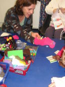Sock puppets at Royal Berkshire Hospital