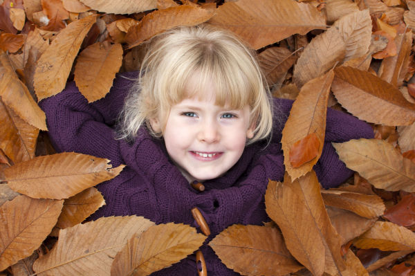 Creative autumn portrait