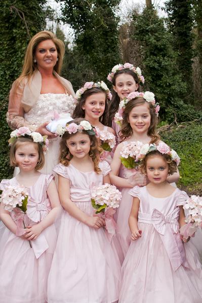 beautiful bridesmaids and flower girls