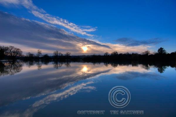 Flooded landscape, Kent