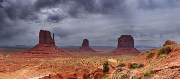 Stormy Monument Valley