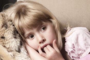 Young girl relaxing