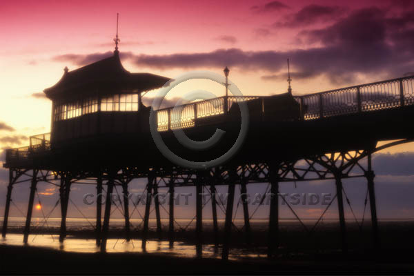 st annes pier moody sunset