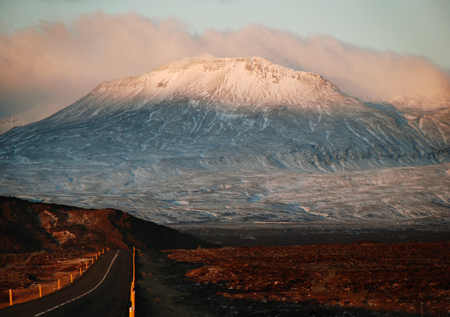 Iceland mountain road