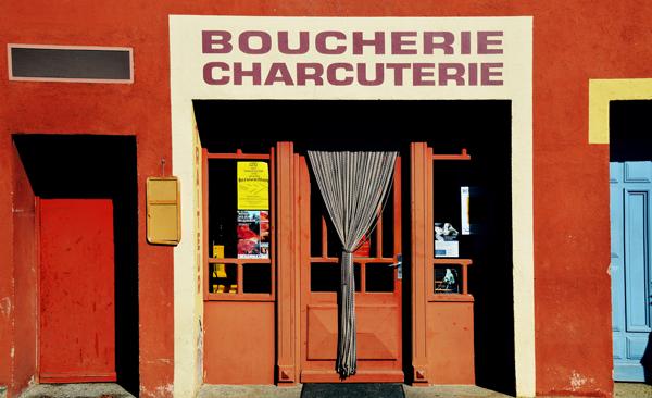 Une boucherie de Provence (Roussillon)