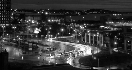 dundee roads at night