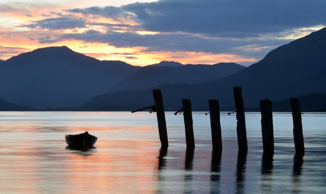 Loch sunset near Ballachulish, Scotland