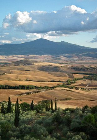view from pienza tuscany