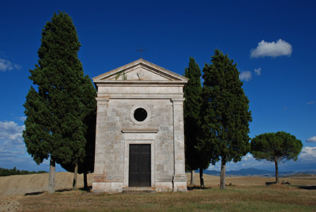 vitaleta chapel val d'orcia