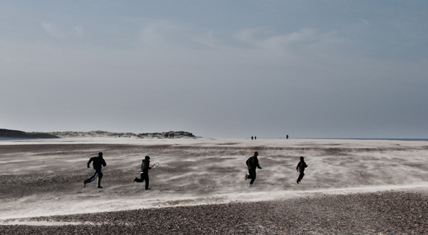 Walk on the beach. Wells, Norfolk