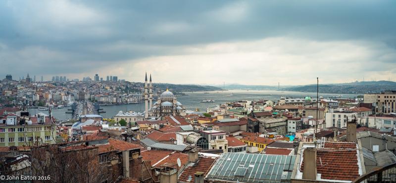 Galata Bridge and Bosphorus