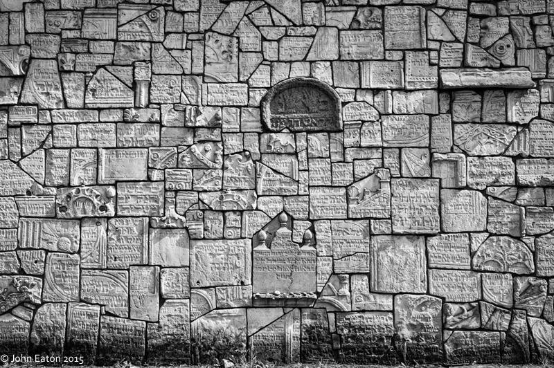 Kazimierz, Jewish Cemetery Wall, Broken Headstones