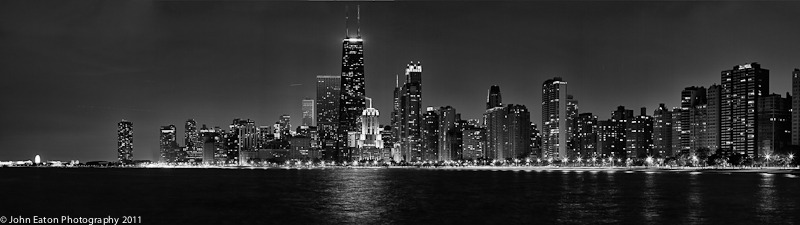 Chicago, Nightime Panorama