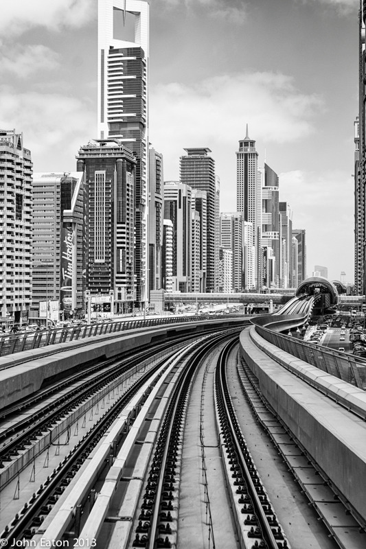 Dubai Skyline, From the Metro 3