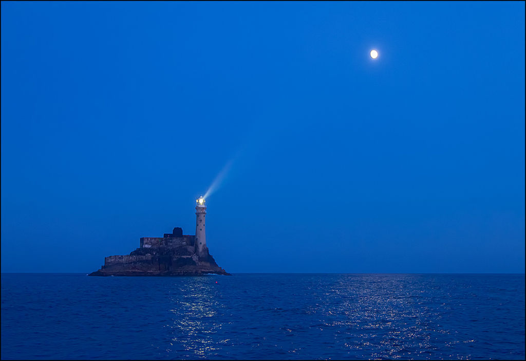 Fastnet and Moon