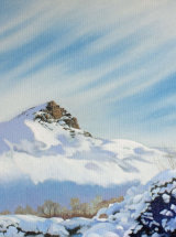 """Winter Topping - Original Oil Painting - 15"""" x 15"""" - SOLD"""