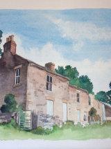 Farm at Huntshield Ford - Original Watercolour