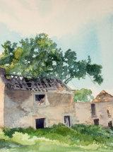 "Crowsfield Farm - Original Watercolour - 9 ½"" x 10"" - SOLD"