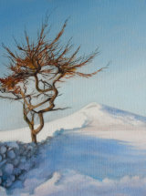 """A Winters Day, Roseberry - Oil on Canvas 12"""" x 12"""""""