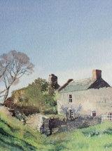 Peak Side Farm, Weardale - Watercolour