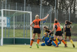 Katie Long scores Leicester's second goal,  Leicester 2 Beeston 1