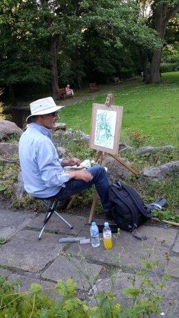 Watercolour painting Millhouses Park,Sheffield.