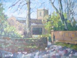 Framed £80.Norton Church,Sheffield