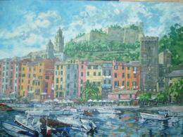 Sold  Portovenere,Liguria,Italy acrylic on canvas.Price £300