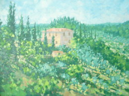 Oil on canvas,Tuscany,Italy Sold £120