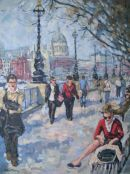 SOLD.St Pauls Cathedral from the South Bank London.