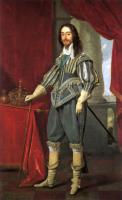 Charles I alongside the Tudor State Crown