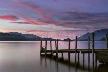 4104 Watendlath Jetty Sunset Derwent Water