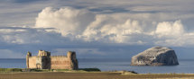 6565 Tantallon Castle and Bass Rock PANORAMA North Berwick