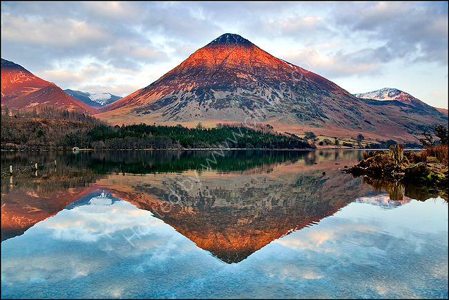 Grasmoor over Crummock Water