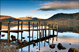 Derwentwater Jetty at dusk.