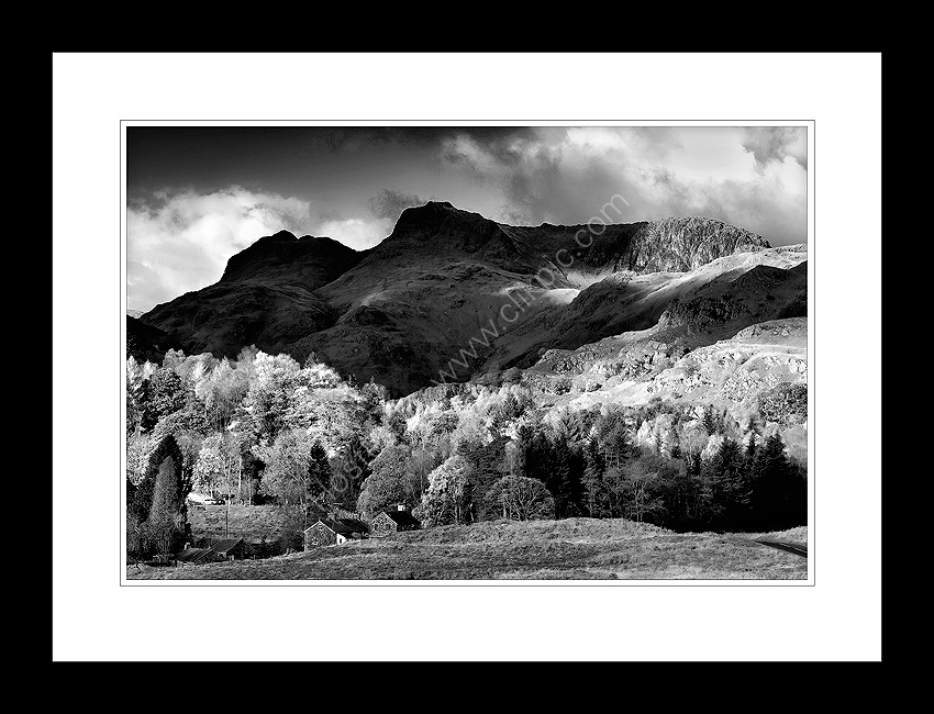 Lake district prints langdale pikes from elterwater